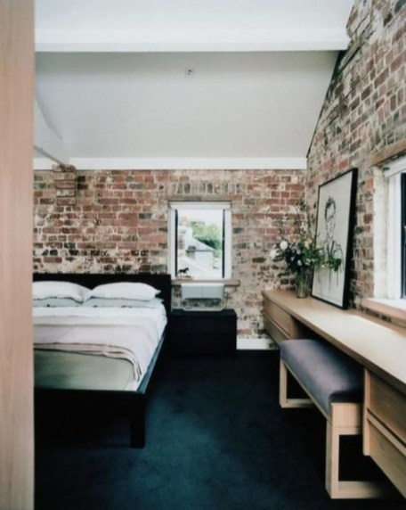 Wonderful Ezposed Brick Walls Bedroom Design Ideas 11