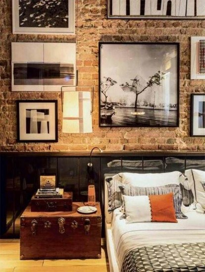 Wonderful Ezposed Brick Walls Bedroom Design Ideas 14