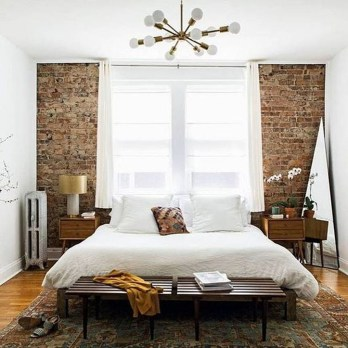 Wonderful Ezposed Brick Walls Bedroom Design Ideas 15