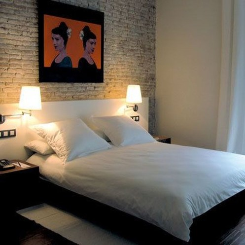 Wonderful Ezposed Brick Walls Bedroom Design Ideas 33