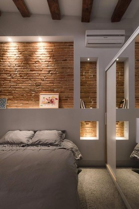 Wonderful Ezposed Brick Walls Bedroom Design Ideas 52