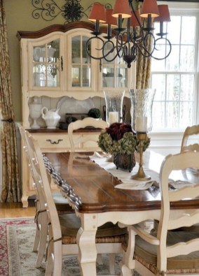 Amazing French Country Dining Room Table Decor Ideas 08