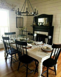 Amazing French Country Dining Room Table Decor Ideas 45