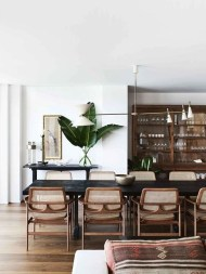 Modern Mid Century Dining Room Table Decor Ideas 01