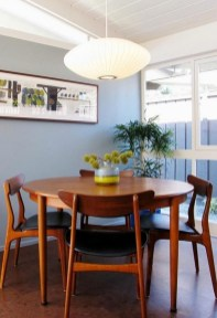 Modern Mid Century Dining Room Table Decor Ideas 29