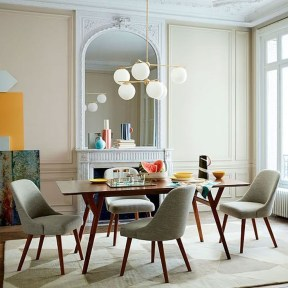Modern Mid Century Dining Room Table Decor Ideas 31