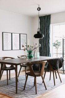 Modern Mid Century Dining Room Table Decor Ideas 38