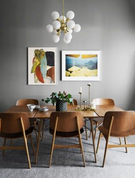 Modern Mid Century Dining Room Table Decor Ideas 42