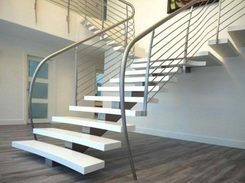 Perfect Living Room Staircase Design Ideas 19