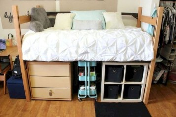 Unique Dorm Room Storage Organization Ideas On A Budget 28