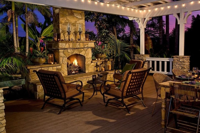 Wonderful Outdoor Fireplace Design Ideas 10