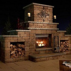 Wonderful Outdoor Fireplace Design Ideas 40