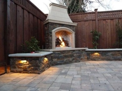 Wonderful Outdoor Fireplace Design Ideas 51