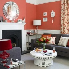 Charming Living Room Designs Ideas With Combinations Of Brown Color 16