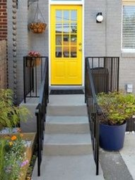 Flawless Exterior House Paint Ideas With Yellow Colors 22