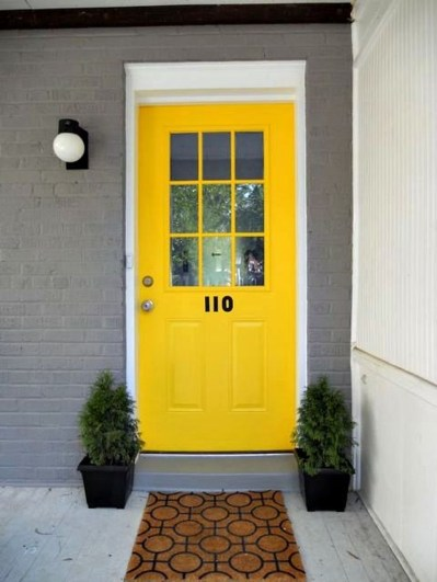 Flawless Exterior House Paint Ideas With Yellow Colors 40