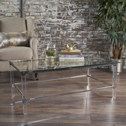 Marvelous Glass Coffee Tables Ideas For Living Room 15