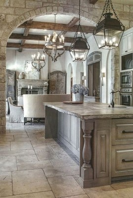 Stylish French Country Kitchen Decor Ideas 25