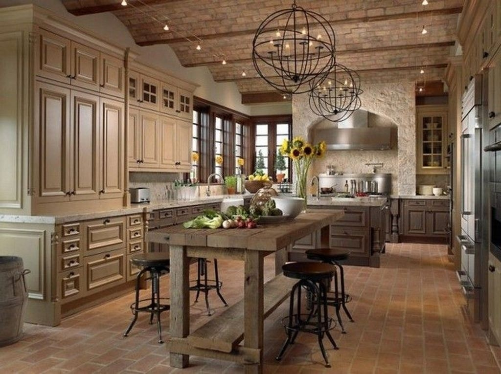 Stylish French Country Kitchen Decor Ideas 34