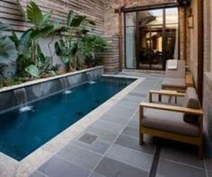 Amazing Natural Small Pools Design Ideas For Backyard 33