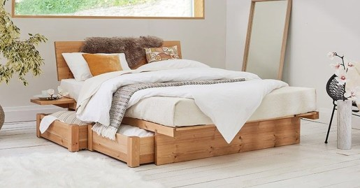 Best Wooden Platform Designs Ideas For Bed 24