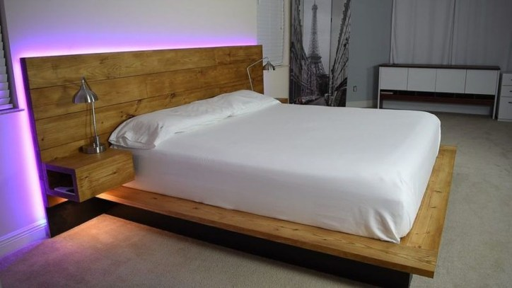 Best Wooden Platform Designs Ideas For Bed 48