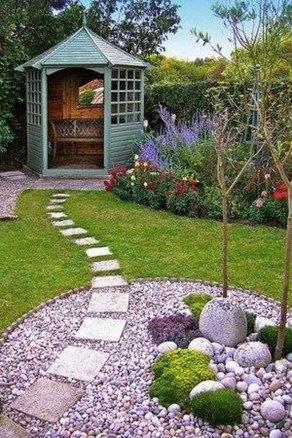 Brilliant Rock Garden Landscaping Ideas For Front Yard 16