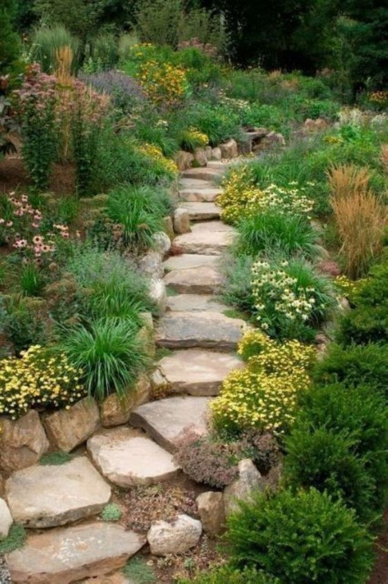 Brilliant Rock Garden Landscaping Ideas For Front Yard 59