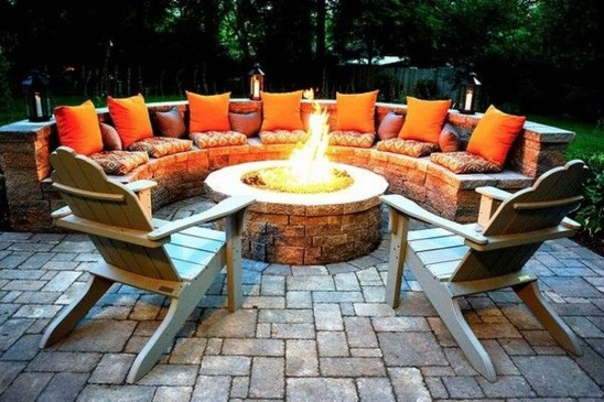 Creative Build Round Firepit Area Ideas For Summer Nights 06