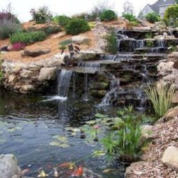 Modern Diy Garden Pond Waterfall Ideas For Backyard 18