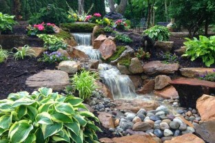 Modern Diy Garden Pond Waterfall Ideas For Backyard 34