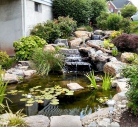 Modern Diy Garden Pond Waterfall Ideas For Backyard 37