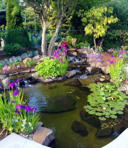 Modern Diy Garden Pond Waterfall Ideas For Backyard 43