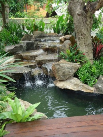 Modern Diy Garden Pond Waterfall Ideas For Backyard 44