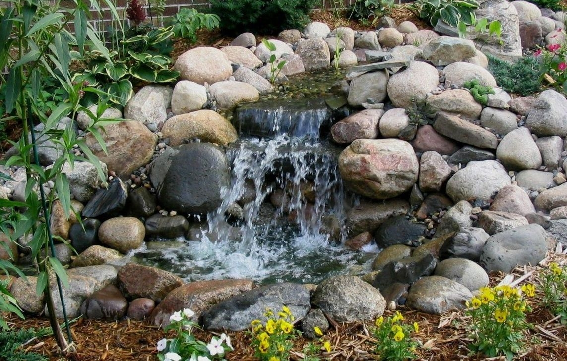 Modern Diy Garden Pond Waterfall Ideas For Backyard 49
