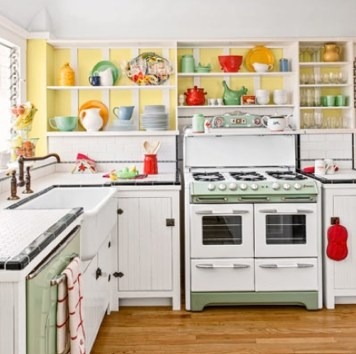Cool Colorful Kitchen Decor Ideas For Summer 40