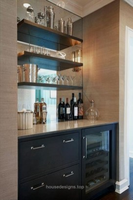 Elegant Mini Bar Design Ideas That You Can Try On Home 25
