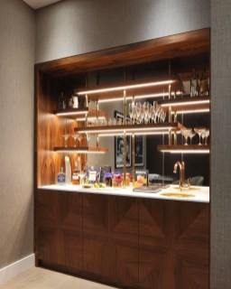 Elegant Mini Bar Design Ideas That You Can Try On Home 50