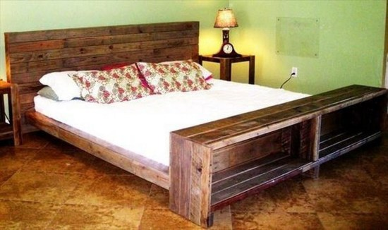 Fancy Diy Ideas To Make Bed Place From Pallet Project 34