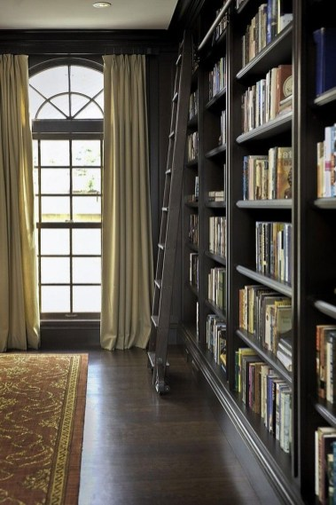 Magnificient Home Design Ideas With Library You Should Keep 08
