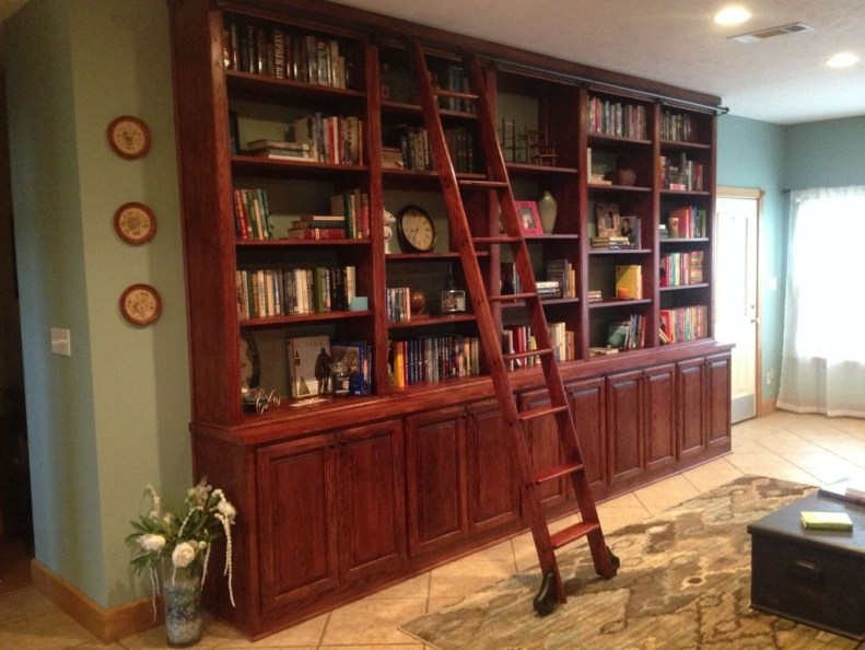 Magnificient Home Design Ideas With Library You Should Keep 11