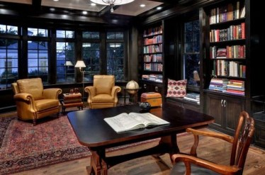 Magnificient Home Design Ideas With Library You Should Keep 14