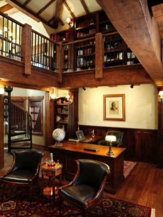 Magnificient Home Design Ideas With Library You Should Keep 16