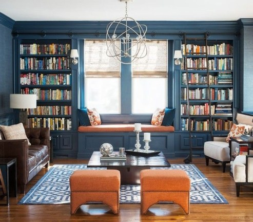 Magnificient Home Design Ideas With Library You Should Keep 17