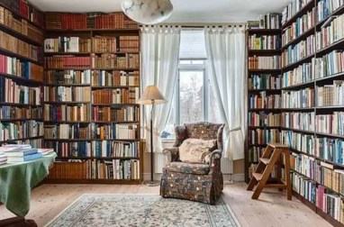 Magnificient Home Design Ideas With Library You Should Keep 36