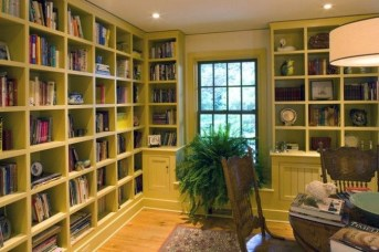 Magnificient Home Design Ideas With Library You Should Keep 45
