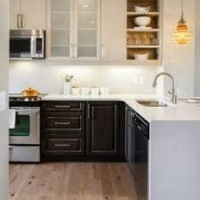 Unique Painted Kitchen Cabinets Design Ideas With Two Tone 05