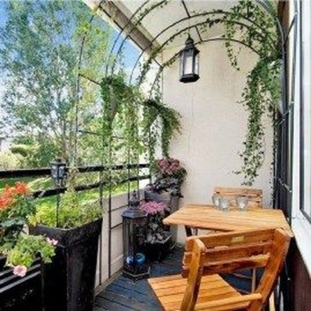 Cool Apartment Balcony Design Ideas For Small Space 16