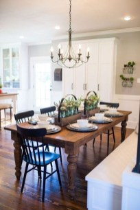 Relaxing Farmhouse Dining Room Design Ideas To Try 39