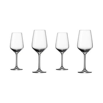 verre à vin motif fleuri cristal d'arc